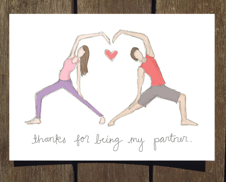 New Yoga Inspired Valentine S Day Cards