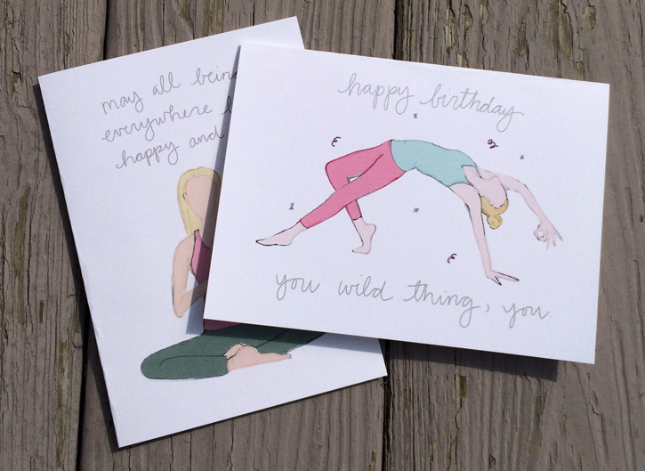Brand new yogi greeting cards in my etsy shop ive been wanting to make new yogiyoga pose greeting cards forever i have a blast making them and i think theyre such a fun addition to my shop and m4hsunfo