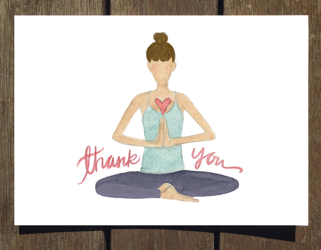 New Yoga Pose Greeting Cards